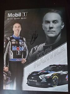 AUTOGRAPHED Kevin Harvick 2021 Mobil 1 SHR 8x10 NASCAR Cup Hero Post card