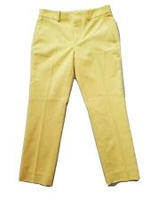 Zara Yellow Cigarette Trousers Chinos Size S