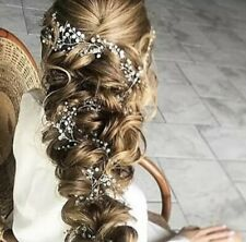 Braut Haarschmuck Haargesteck Tiara Dame Hochzeit Kopfschmuck Diadem Perlen P255