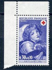STAMP TIMBRE FRANCE NEUF N° 1700a ** JEUNE FILLE AU PETIT CHIEN ISSUS DE CARNEt