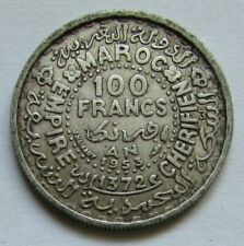 Maroc - 100 francs 1953 en argent