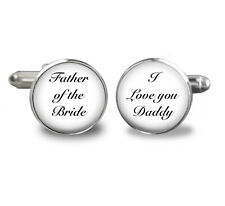 Father-of-the-Bride-CufflinksI love you Daddy-Wedding,mens-jewelry,wedding cuff