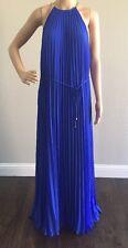 Ted Baker Hannaa Pleated  Maxi Dress Bright Blue Size 5 (USA 12) $389