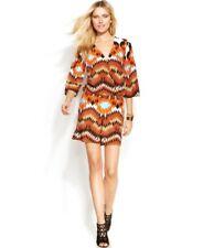 58f7430a4611 Inc International Concepts Plus Size Orange Tribal Printed Romper 3x