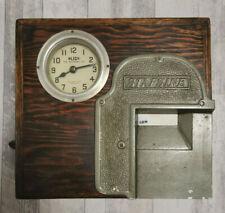 Antik Blick Time Recorder ltd.Stempeluhr Clock by Stafsine Kassenschublade