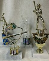 lot of 4 BASEBALL SOFTBALL TROPHIES Girls, youth, and unisex FAST SHIPPER!