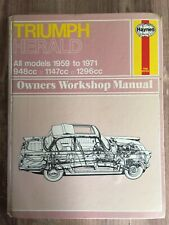 Triumph Herald Owner's Workshop Manual Haynes Publishing 1971, 1978