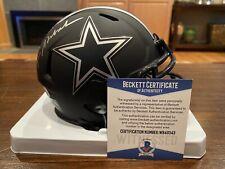 Roger Staubach Autographed Dallas Cowboys Eclipse Mini Helmet Witness Beckett 1