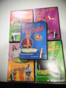 5 DVD Career Children Educational Videos Zookeeper Swimmer Pilot Vet Art Teacher