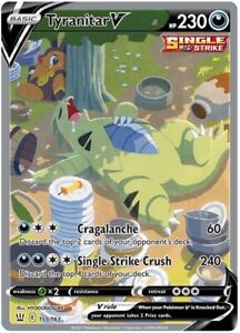 POKEMON TCG SS BATTLE STYLES : Tyranitar V 155/163 - ALT FULL ART