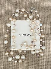 $225 Chan Luu White Freshwater Pearl & Sterling Silver Necklace ~ Gorgeous!