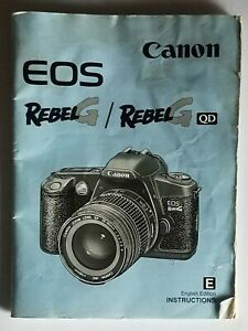 Canon EOS Rebel G or G QD Instruction Manual Only (No Camera)