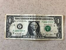 FANCY SET of TRAILING SOLID QUAD's in $1 Dollar Bill, UNIQUE SERIAL NUMBER NOTES