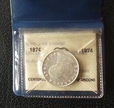 Repubblica Italiana - 500 lire 1974 Guglielmo Marconi - Argento FDC