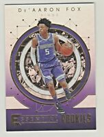 2017-18 Panini Essentials ESSENTIAL ROOKIES De'AARON FOX RC Rookie QTY AVAILABLE