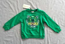 NWT KENZO Kids GREEN TIGER LOGO SWEATER / SWEATSHIRT 3 yrs SZ 3A 98 BOYS / GIRLS