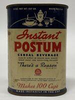Vintage Post Instant Postum Cereal Beverage 8oz Tin General Foods Advertising