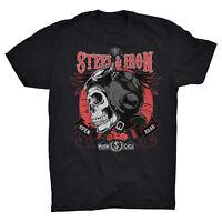 Steel & Iron T Shirt Motorbike Indian Motorcycles Chopper Rider Biker Rockabilly