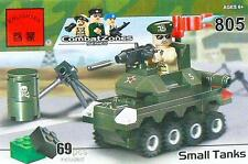 Lego 3 Random Bricks & Enlighten Brick #805 Small Army Tank