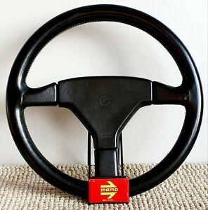 MOMO Cobra 1990 leather steering wheel vintage FIAT Uno Mazda mx Honda Civic CRX
