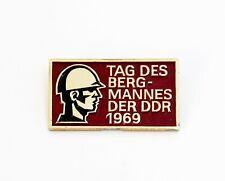 """DDR Abzeichen """"Tag des Bergmanns"""" 1969"""
