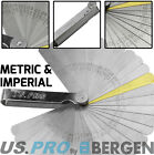 Feeler Gauge BERGEN 32 Blade Dual Marked Metric Imperial Feeler Gage Brass Blade
