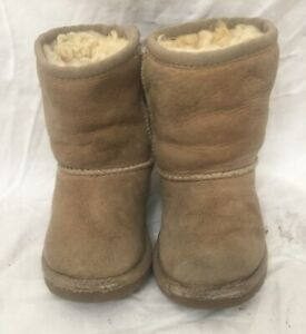 Ugg 5251T Tan Sheepskin Leather WARM Winter Boots Toddler Infant Size 7