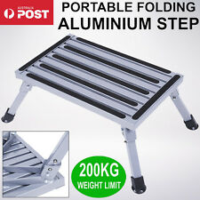 Folding Aluminium Step Stool Loads 200kg Caravan RV Parts Accessories Ladder AU