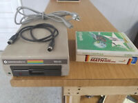 """Vintage Commodore 1541 5.25"""" Floppy Disk Drive *Powers On* For Parts"""