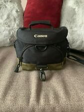 Weatherproof Black Canon Camera Bag w/ Shoulder Strap