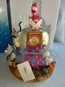 RARE, Disney Cats Musical Water  Snowglobe Globe in Original Box. WORKS