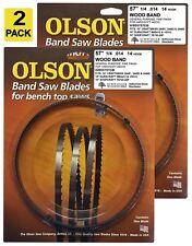 """Olson Band Saw Blades 57"""" 56-7/8"""" inch x 1/4"""", 14TPI Craftsman, Shopcraft (2)"""