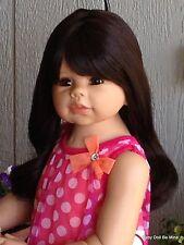 "Masterpiece Dolls * Kaylee Brunette 34"" Doll Monika Levenig FREE Extra Outfit"