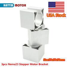Us3pcs 57mm Nema23 Stepper Motor Mount Aluminum Bracket Support For Cnc Router