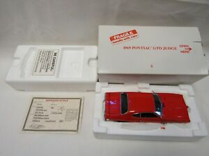 DANBURY MINT 1:24 DIE CAST 1969 PONTIAC GTO JUDGE 2 DOOR COUPE CAROUSEL RED