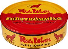 Röda Ulven Surstromming Swedish Fermented Herring Fish 400 gram Tinned 2020