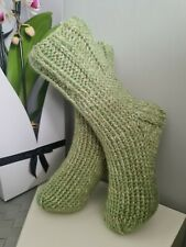 New listing Hand knitted warm wool socks quality 5-6 UK winter/bed socks slippers🧦long