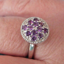 925 Sterling Silver Ring With Lusaka Amethyst UK P 1/2, US 8 (rg2787)