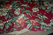 pair of maroon pillow shams tan flowers inv 2