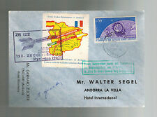 1962 Andorra Rocket Mail Cover Gerhard Zucker Signed