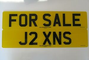 J2 XNS  Private Registration - Cherished Number Plate