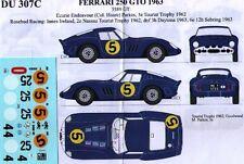 decal 1/43 FERRARI 250 GTO '62 ECURIE ENDEAVOUR + ROSEBUD RENAISSANCE DU307C