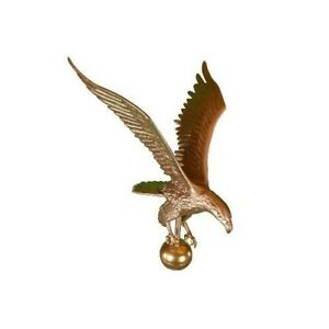 Flagpole Eagle Topper Decorative Bronze Gold Finial Globe Outdoor Large 18 inch