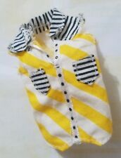 MONSTER HIGH DOLL CLOTHING BOY GLOOM BEACH JACKSON JEKYLL YELLOW WHITE TOP SHIRT