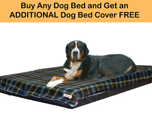 Waterproof Dog Bed Foam Mattress 4 Sizes 19 Colours Available Free Spare Cover
