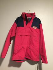 Vintage Norrona Goretex 3Ply Pullover Jacket Coat Pink Navy Ski Snowboard Rare M
