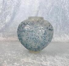 LALIQUE GUI OPALESCENTE Vaso in vetro con colorazione blu N ° 948 C1930