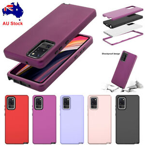 For Samsung Galaxy Note 20 Ultra Hybrid Rubber Shockproof Heavy Duty Case Cover