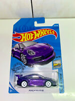 2019 Hot Wheels PORSCHE 911 GT3 RS Purple SUPER CUSTOM WHITE 4SPK REAL RIDERS