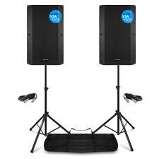 More details for vsa12bt pair active pa speakers bi-amp 12